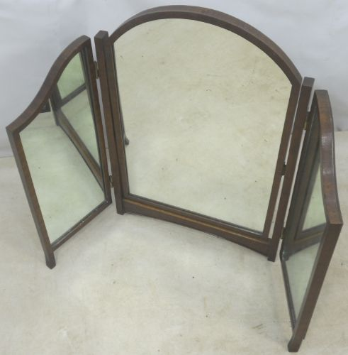 Mahogany Framed Triple Dressing Mirror